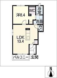 ラ エディフィス[1階]の間取り