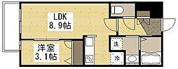 (仮)月光三吉町3丁目 1階1LDKの間取り