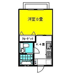 茨城県神栖市柳川の賃貸アパートの間取り
