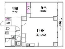 牛田コーポユニバース[1階]の間取り