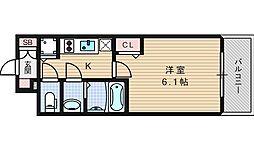 プレサンス難波セレクト[8階]の間取り