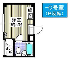 メゾン泉尾[5C号室]の間取り