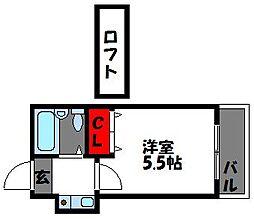 福岡県福岡市東区千早1丁目の賃貸アパートの間取り