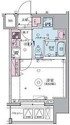 リヴシティ横濱生麦 3階1Kの間取り