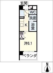 EASTCOURT SAKURABASHI[3階]の間取り