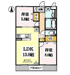 プリマベーラ巽東[3階]の間取り