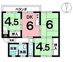 駐車場1台分無償・子供部屋も確保できる3DKの間取りが魅力
