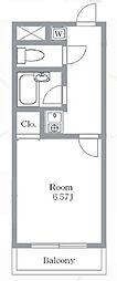 大宮西口プラザB棟[4階]の間取り