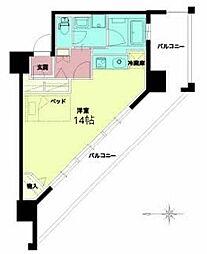Osaka Metro千日前線 西長堀駅 徒歩5分の賃貸マンション 9階ワンルームの間取り