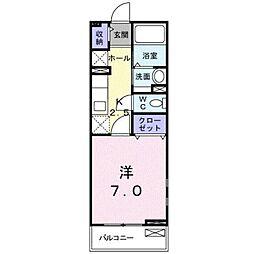 和歌山県和歌山市北島の賃貸アパートの間取り