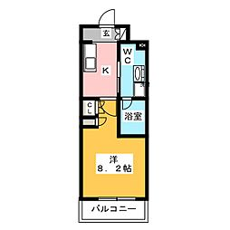 プラウドフラット木場II 11階1Kの間取り