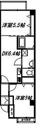 グランパシフィック寺田町[606号室号室]の間取り