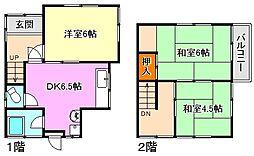 [一戸建] 兵庫県神戸市垂水区塩屋町8丁目 の賃貸【/】の間取り