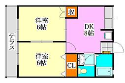 シティハイムアカツキ[1階]の間取り