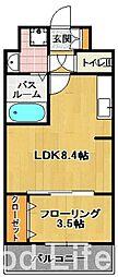 モダン パラッツィオ 博多 スール 2[7階]の間取り