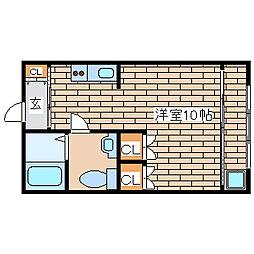 兵庫県明石市新明町の賃貸アパートの間取り