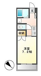アビターレ筒井[4階]の間取り
