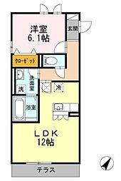 アルカディア湘南[2階]の間取り