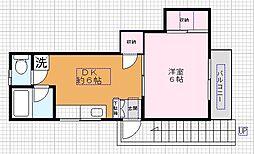 大嵩アパート[2階号室]の間取り