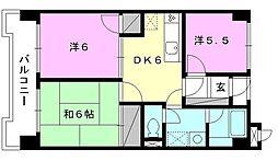 TS東野[203号室]の間取り