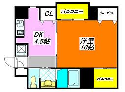 ファースト・アベニール 204号室[2階]の間取り
