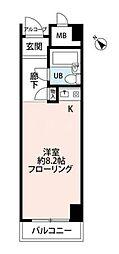 横浜大通り公園ハイツ[2階]の間取り