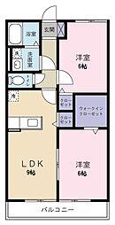 ヤマユウハウス山科[105号室]の間取り
