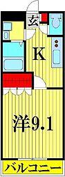 埼玉県越谷市レイクタウン1の賃貸マンションの間取り