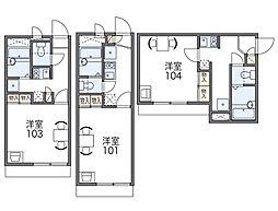 京阪本線 森小路駅 徒歩3分の賃貸アパート 1階1Kの間取り