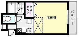 メゾンド大崎[206号室]の間取り