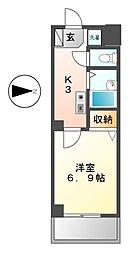 愛知県名古屋市南区泉楽通1丁目の賃貸マンションの間取り
