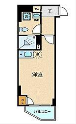 ブライトヒルレジデンス横浜 3階ワンルームの間取り