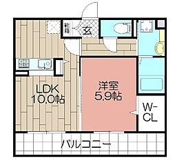 D-room東光寺[302号室]の間取り