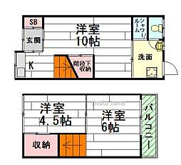 [一戸建] 大阪府豊中市島江町2丁目 の賃貸【/】の間取り