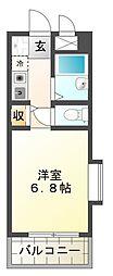 モンテメール仲田[2階]の間取り