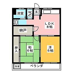 アルフォレスト羽島[2階]の間取り