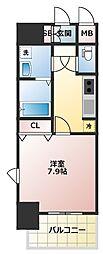大阪府大阪市中央区農人橋1丁目の賃貸マンションの間取り