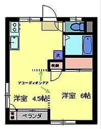 ユニバース7[102号室]の間取り