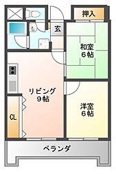 プラネット藤井寺[3階]の間取り