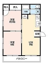 小菅ビル[2階]の間取り