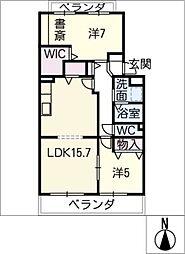 ファミーユ・フカヤ[4階]の間取り
