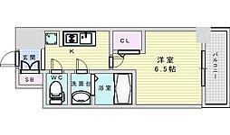 Osaka Metro御堂筋線 西中島南方駅 徒歩14分の賃貸マンション 9階1Kの間取り