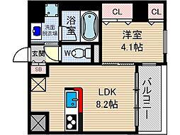コルテ・ビラージュ[4階]の間取り