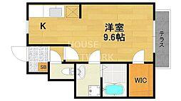 casa noble(カーサノーブル)[101号室号室]の間取り
