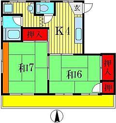 コーポ佐藤[3階]の間取り