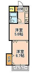 エミネンス新松戸[102号室]の間取り