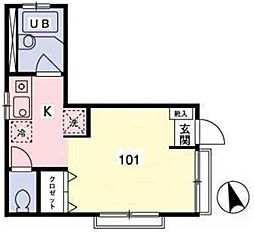 Aアボウド[1階]の間取り