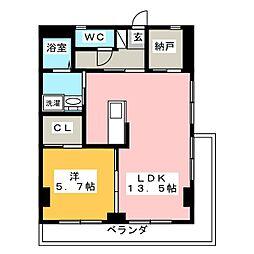 コーケツビル[3階]の間取り