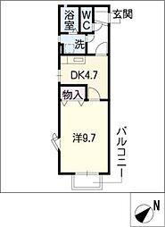 ブライトカメリア[2階]の間取り