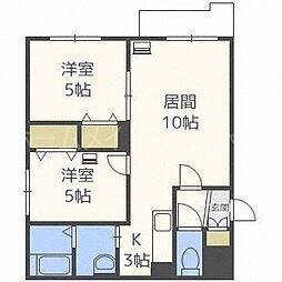 クラリス菊水II[2階]の間取り